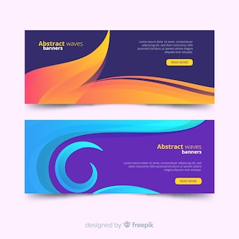Abstracte golfbanners