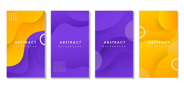 Abstracte golfdekking met kleurrijke vormen