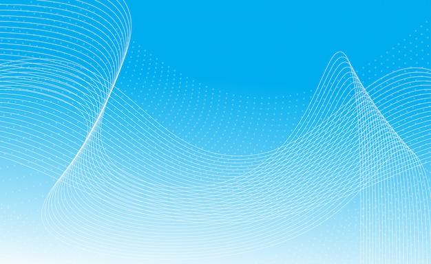 Abstracte golven en deeltjesachtergrond