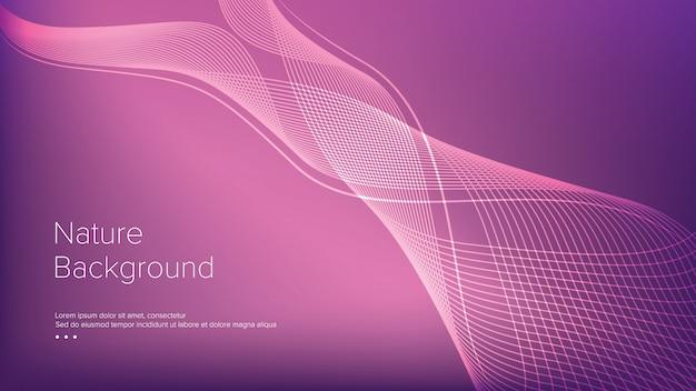 Abstracte golven lijn elegante achtergrond