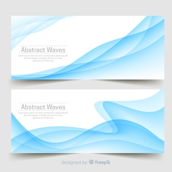 Abstracte golvenbanners