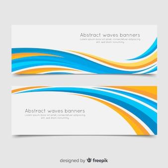 Abstracte golvenbanners