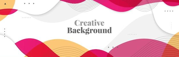 Abstracte golvende achtergrond. kleurrijke creatieve achtergrond voor banner, poster of pagina