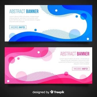 Abstracte golvende bannerinzameling