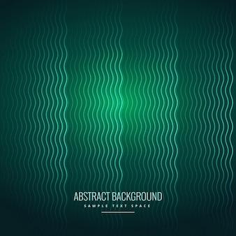 Abstracte golvende lijnen groene achtergrond