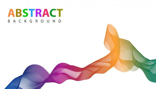 Abstracte golvende linten met levendige kleuren achtergrond