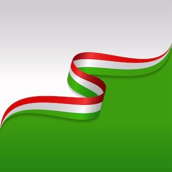Abstracte golvende vlag van de italiaanse met lintstijl