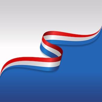 Abstracte golvende vlag van frankrijk met lintstijl
