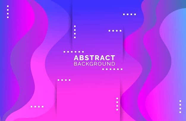 Abstracte golvende vloeibare achtergrond in trendy kleurverloop