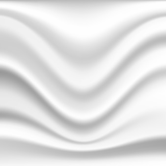 Abstracte golvende zijdeachtergrond in witte kleur