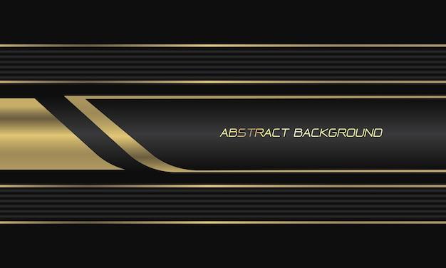 Abstracte goud grijze metalen lijn geometrische op zwarte moderne luxe futuristische achtergrond