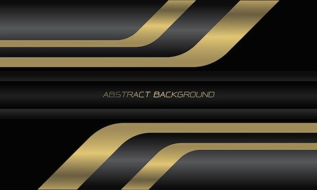 Abstracte goud zilver zwarte geometrische overlappingssnelheid op donkergrijze moderne luxe futuristische technische achtergrond
