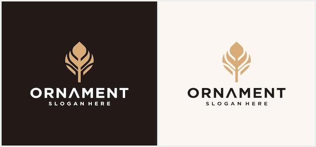 Abstracte gouden bloem ornament logo ontwerp gouden bloemen ronde vector luxe oosterse icon