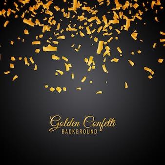 Abstracte gouden confetti decoratieve achtergrond