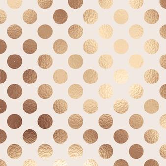 Abstracte gouden folie polka dot textuur