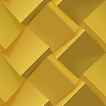 Abstracte gouden geometrische achtergrond. naadloos patroon voor omslag, boek, poster, flyer, website-achtergronden of reclame. realistische afbeelding.