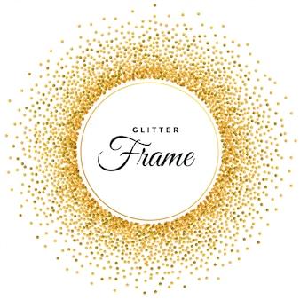 Abstracte gouden glitter frame achtergrond
