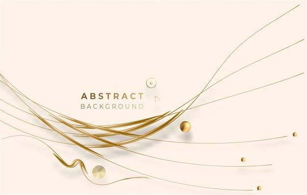 Abstracte gouden gloeiende glanzende cirkel lijnen effect vector achtergrond. gebruik voor modern design, dekking, poster, sjabloon, brochure, ingericht, flyer, banner.