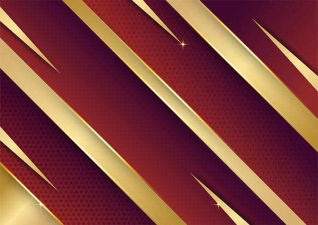 Abstracte gouden lijnen patroon zakelijke technologie op rode gradiënten achtergrond.