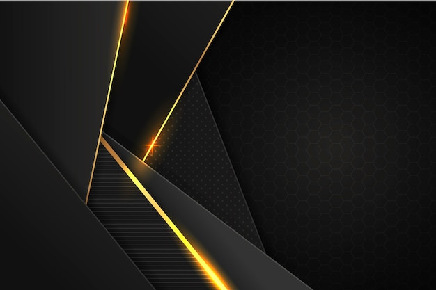 Abstracte gouden luxe achtergrond Gratis Vector