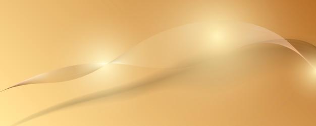Abstracte gouden luxe banner achtergrond.