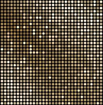 Abstracte gouden mozaïekachtergrond. disco-stijl