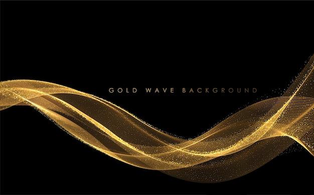 Abstracte gouden rookgolven