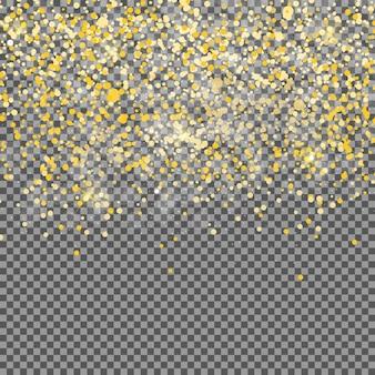 Abstracte gouden transparante achtergrond. realistische vectorillustratie