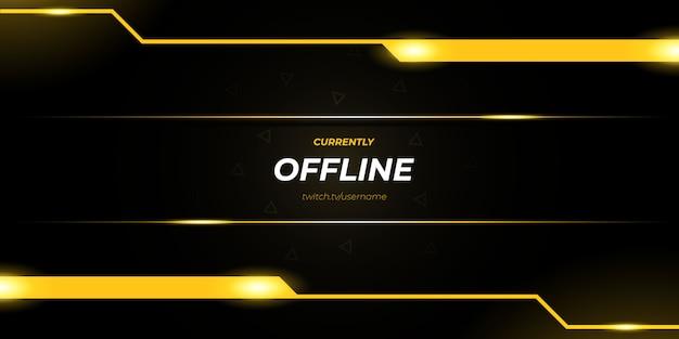 Abstracte gouden twitch offline gaming-achtergrond