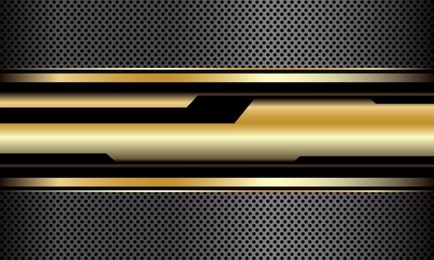 Abstracte gouden zwarte cyber geometrische grijze cirkel mesh luxe futuristische technologie vector achtergrond