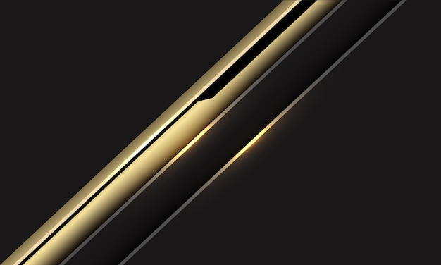 Abstracte gouden zwarte cyber lijn schuine streep op donkergrijze moderne futuristische achtergrond