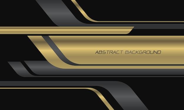 Abstracte gouden zwarte geometrische overlappingssnelheid op donkergrijze moderne luxe futuristische technologieachtergrond