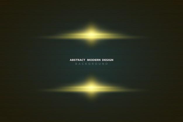 Abstracte gradiënt gele luxe licht op zwarte sjabloon ontwerp achtergrond.