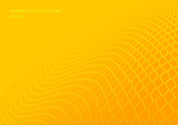 Abstracte gradiënt gele vierkanten golf achtergrond
