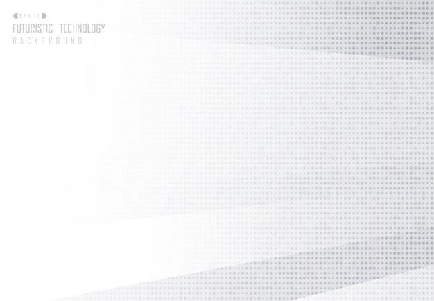 Abstracte gradiënt halftone technische achtergrond