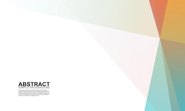 Abstracte gradiënt kleurrijke minimalistische achtergrond vectorillustratie