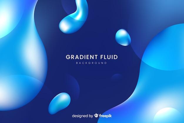 Abstracte gradiëntachtergrond met vloeibare vormen