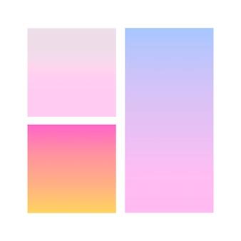 Abstracte gradiëntbol van violet, roze, blauw. vector sjabloon