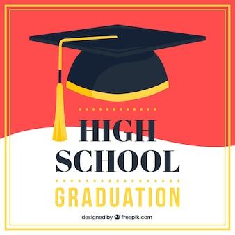 Abstracte graduatie cap achtergrond
