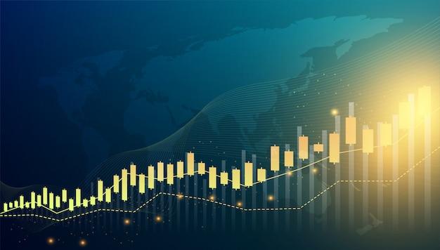 Abstracte grafiekgrafiek van aandelen financiële handel