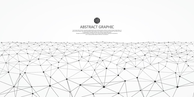 Abstracte grafische achtergrond met lage polystructuur