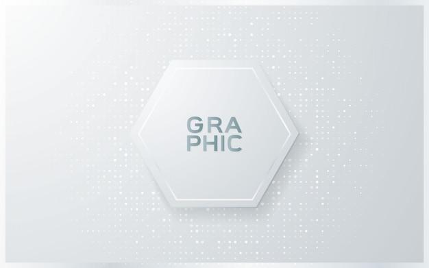 Abstracte grijze achtergrond met halfone patroon