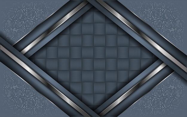 Abstracte grijze achtergrond overlappende laag met glitter
