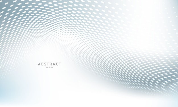 Abstracte grijze achtergrond poster met dynamische golven. technologienetwerk.