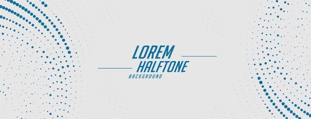 Abstracte grijze banner met blauw halftone ontwerp