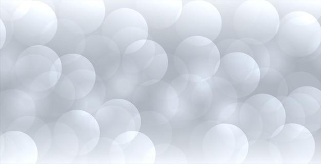 Abstracte grijze bokehbanner in elegante stijl