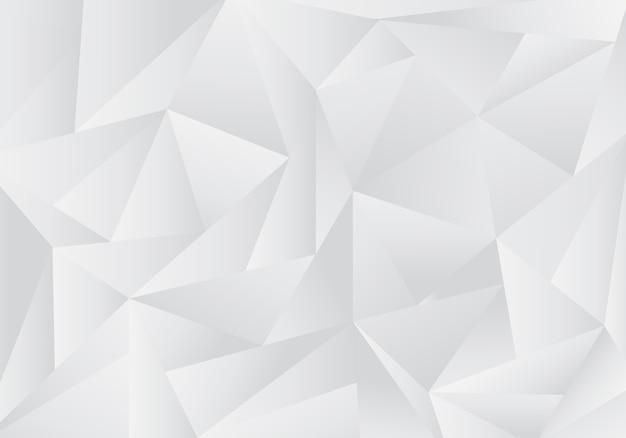 Abstracte grijze en witte lage veelhoekachtergrond