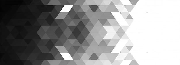 Abstracte grijze geometrische banner