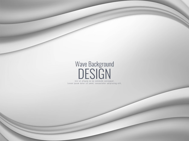 Abstracte grijze golvende moderne achtergrond