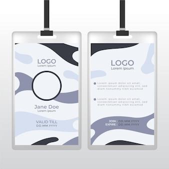 Abstracte grijze identiteitskaart met fotoruimte